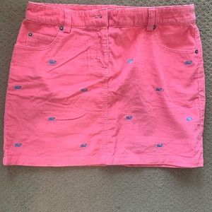 Vineyard Vines corduroy skirt with blue whales.
